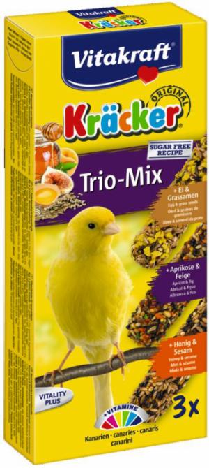 Vitakraft Kräcker Trio-Mix kanarie ei,abrikoos,honing