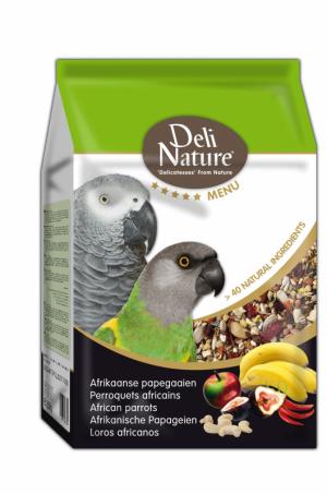 Deli Nature 5 sterren menu afrikaanse papegaai