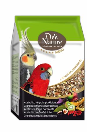 Deli Nature 5 sterren menu australische grote parkiet