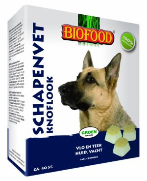 Biofood Schapenvet Knoflook maxi