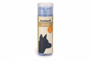 Beeztees absorberende drooghanddoek voor honden Blauw