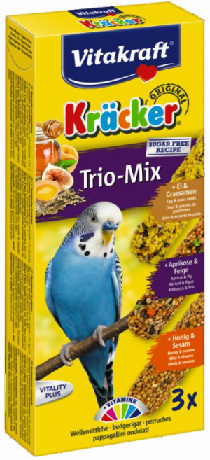 Vitakraft Kräcker Trio-Mix parkiet ei,abrikoos,honing