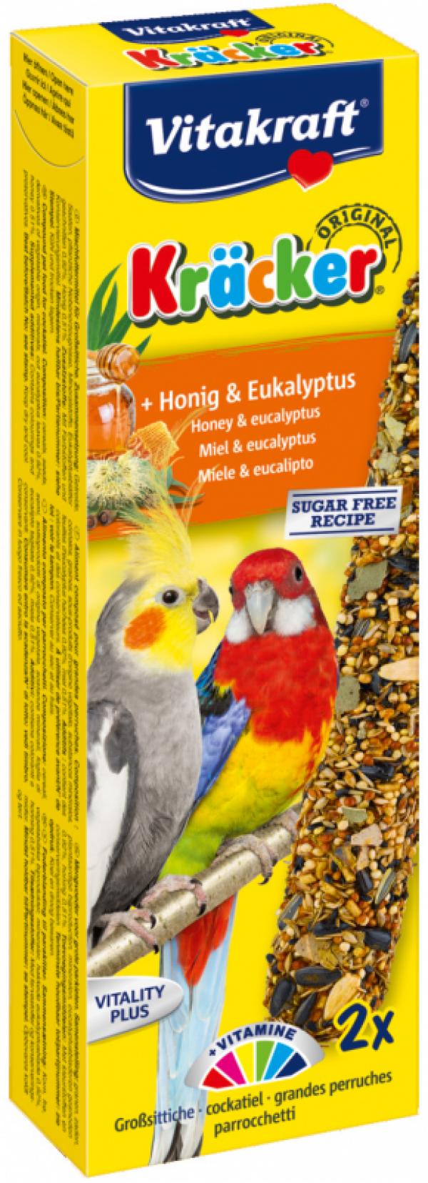 Vitakraft Kräcker valkparkiet met honing en eucalyptus