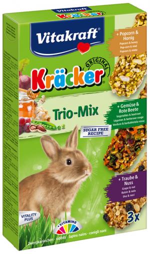 Vitakraft Kräcker Trio-Mix konijn met popcorn,groente,noot