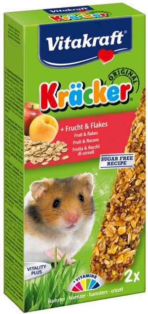 Vitakraft Kräcker hamster met fruit en flakes