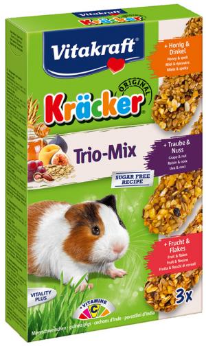 Vitakraft Kräcker Trio-Mix cavia met honing/noot/fruitKräcker Trio-Mix cavia met honing,noot,fruit