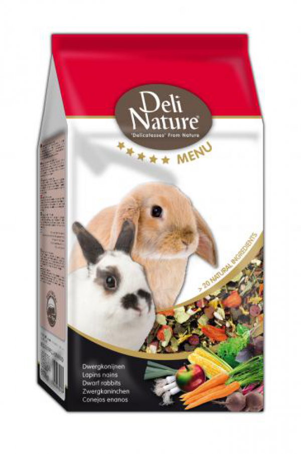 Deli Nature 5* menu dwergkonijnen