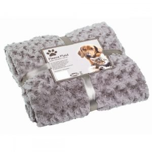 Nobby Fleece Plaid Super Soft Lichtgrijs 100x150 cm