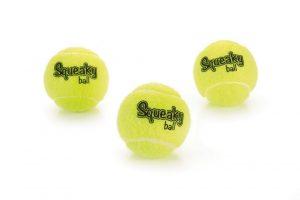 Piepende Tennisbal 6,5cm 3st