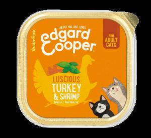 Edgard & Cooper Kat Kuipje Adult Kalkoen&Garnalen
