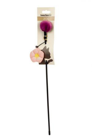 Beeztees Floral Kattenhengel - Kattenspeelgoed - 40 cm