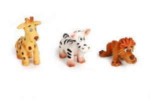 Latex Puppy Safari dieren. Assorti.